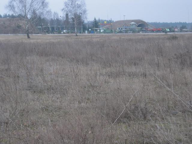 view to the east and former military airport