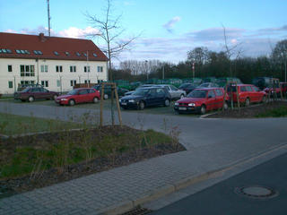 #1: The parking lot for the police station