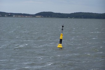 #1: General view of the confluence and the Wussow buoy (towards NW)