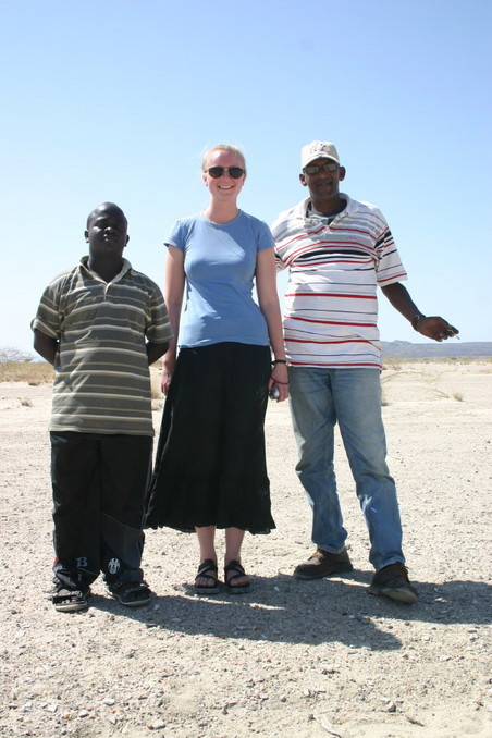 Mohammed, Angelica, and Abdul Kader at the CP (left to right)