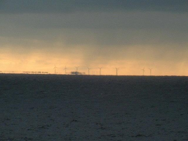 wind rotors on the Polish coast