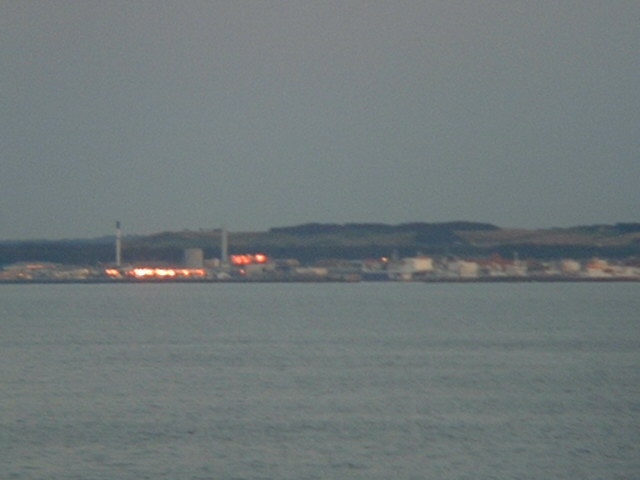 Hirtshals, shot through marine binoculars