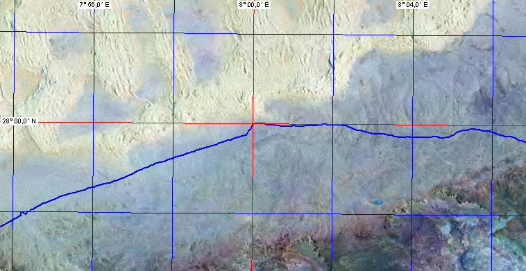 Our track (picture from zulu.ssc.nasa.gov/mrsid/, track data from OziExplorer, www.oziexplorer.com)
