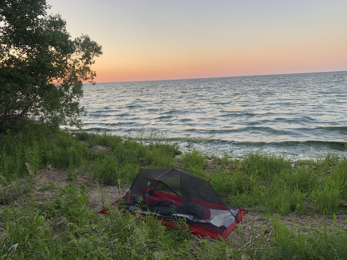 Camping at Lake Peipus