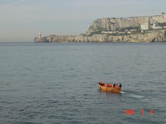 our lifeboat heading towards Great Europa Point