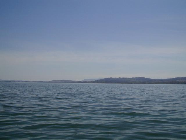 looking south across the lake