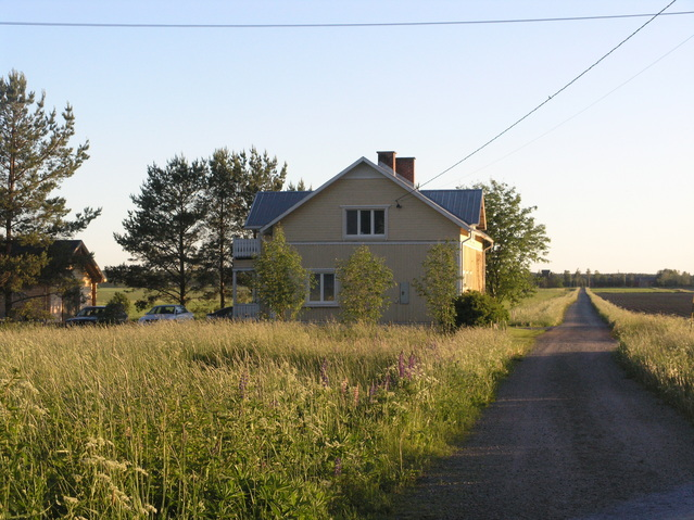 Farm house at the end of the road