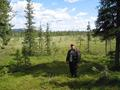 #4: Jyrki Huhtaniska crossing the open swamp