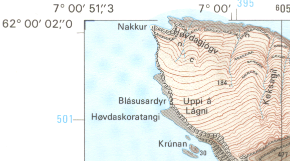 1:20000 map showing the confluence