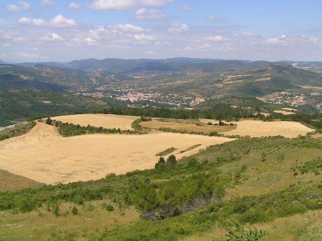 the Cathars' Land seen from Rennes-le-Chateau