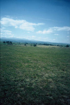 #1: view to the west with the Cantal mountains in the background