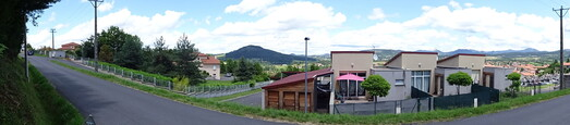 #1: WNE panoramic view from the street