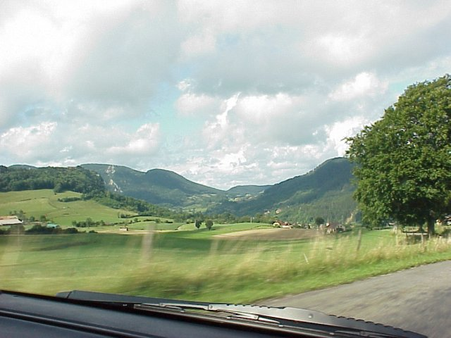 Arbois Area Through the Windshield