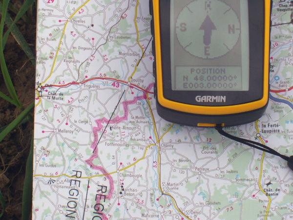 The GPS and the map.