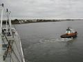 #2: A tug towing our ship off the quay in Lorient