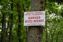 #10: One of the many warning signs posted in the forest