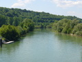 #3: On bridge 70 m from CP: downstream the river Marne