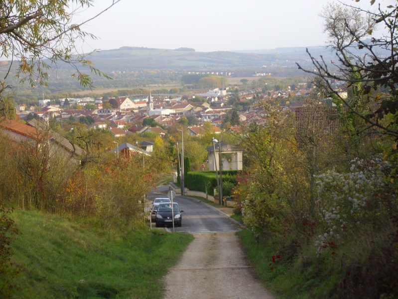 Pagny -sur Moselle seen from Rue Gambetta
