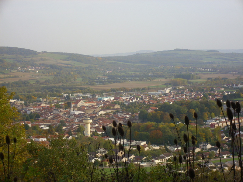 Pagny-sur Moselle seen from the viewing point