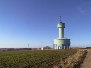 #1: Water tower at the confluence point