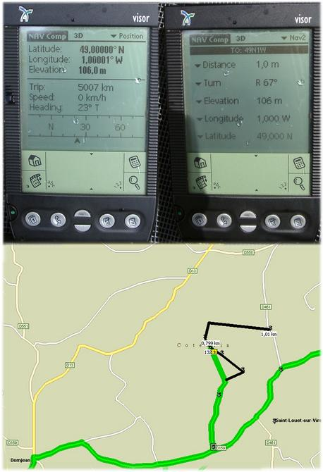 Map with GPS reading