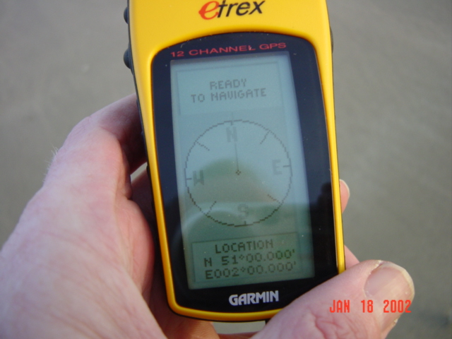 GPS at location N 51° E 2°