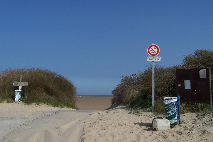 Entry to the beach