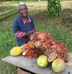 #7: Lady selling papaya and oil palm seeds