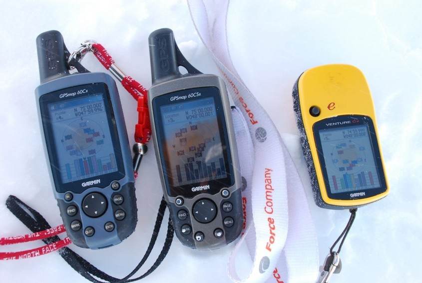 Shot of three GPS's