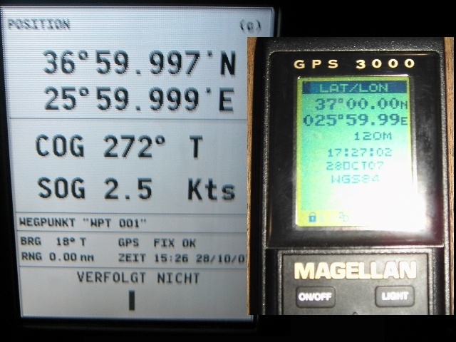 GPS shot (left - GMT, right - Local time)