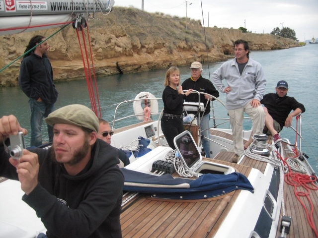 The rest of the Crew in Korinthos Channel