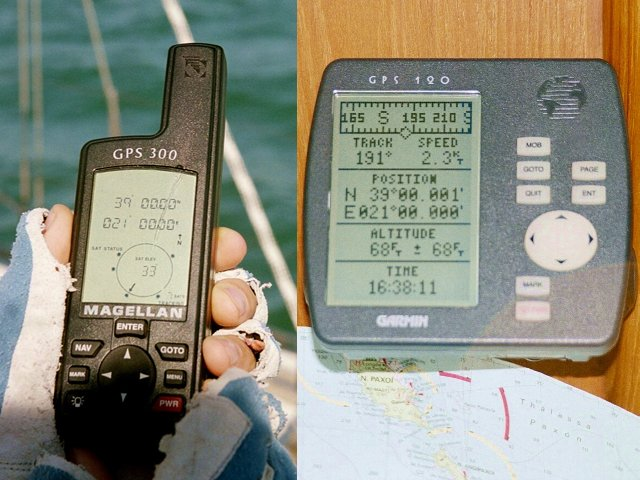 Hand- and boat-GPS / Hand- und Boot-GPS