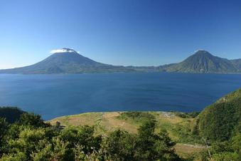 #1: Lake Atitlan, from where we started our trip that day.