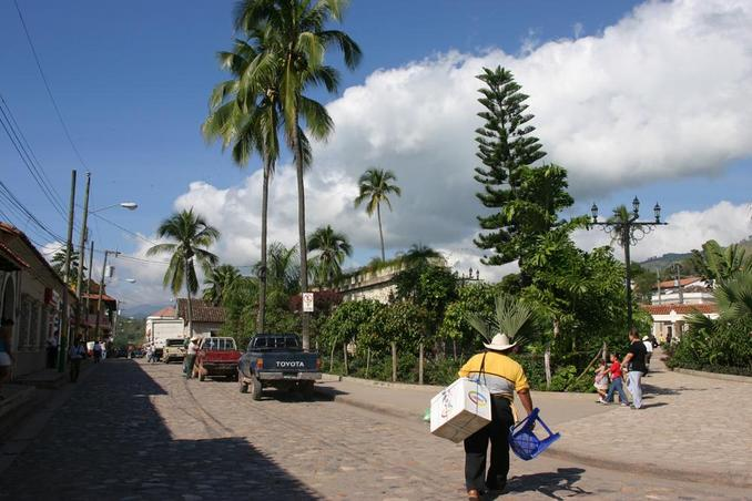 The town of Copán.