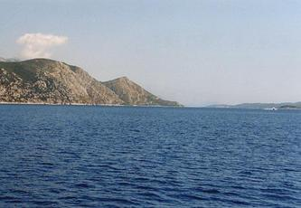 #1: Looking east, left is the peninsula Peljesac, right is the island of Korcula