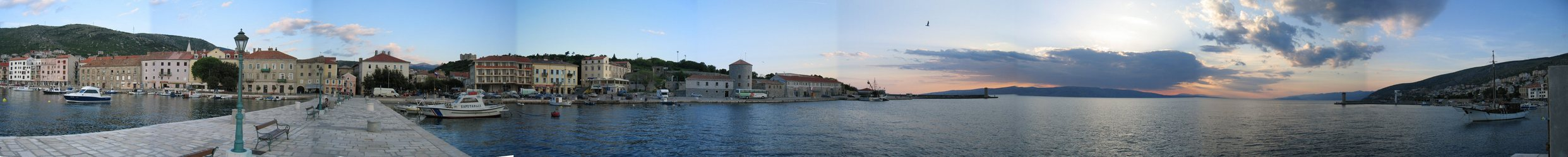 Panorama in Senj Harbor