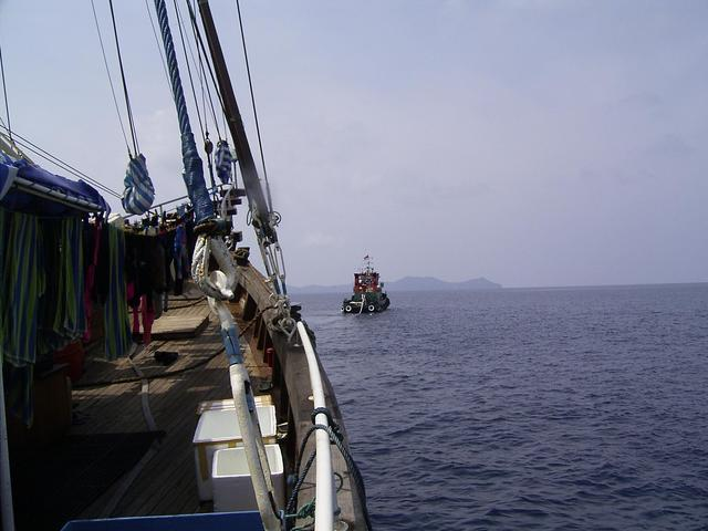 The tugboat from Sorong towing us to the confluence point