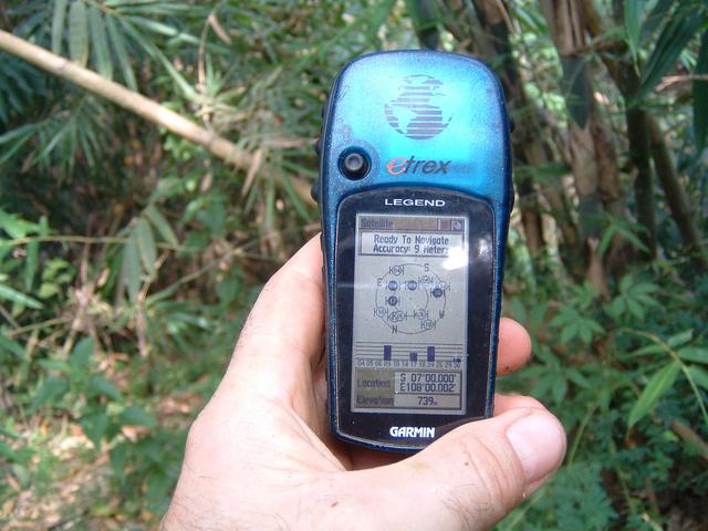Closeup of GPS receiver
