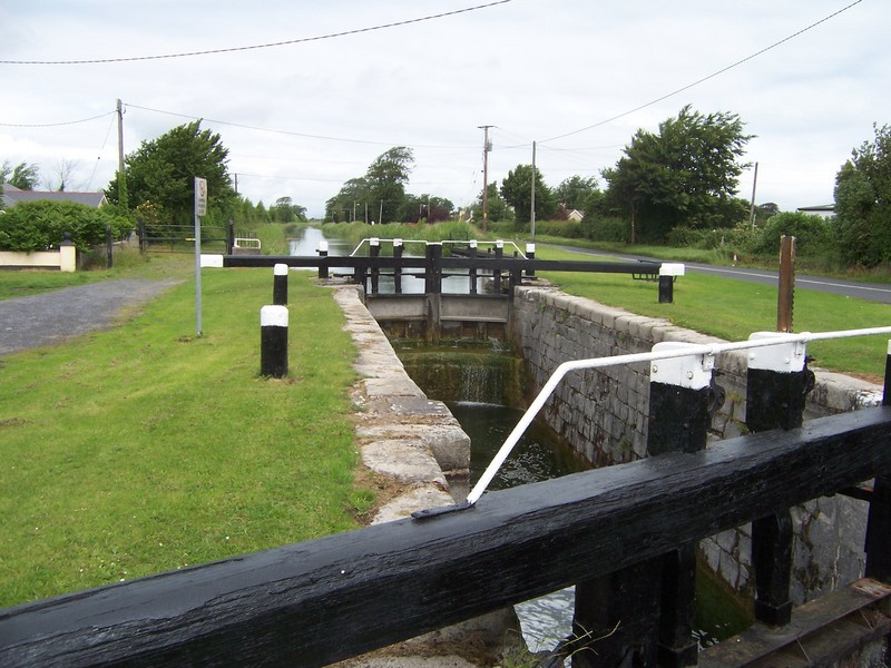 A lock on the canal. The confluence is just a little ways up this road, on the right