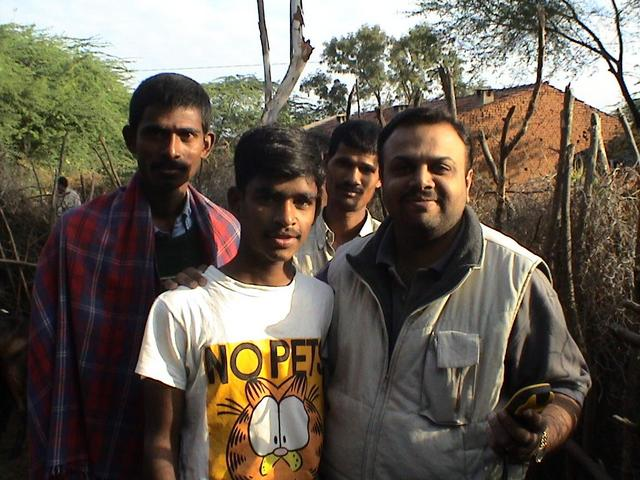 Praveen With locals