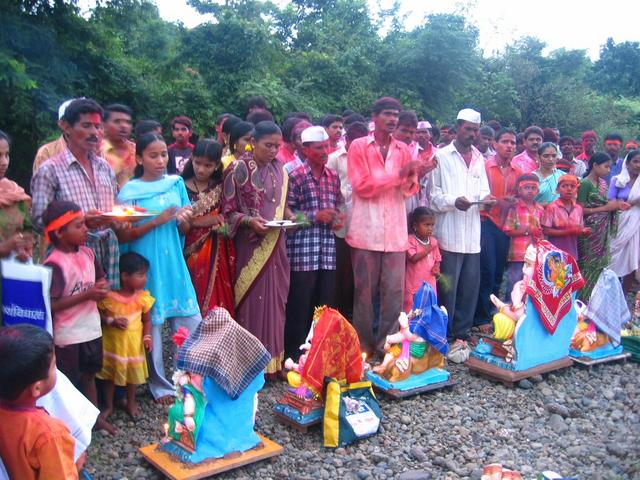 Locals Celebrating Ganesha Festival Nearby