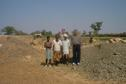 #7: People working at the well and on the right our driver Dilbagh Singh