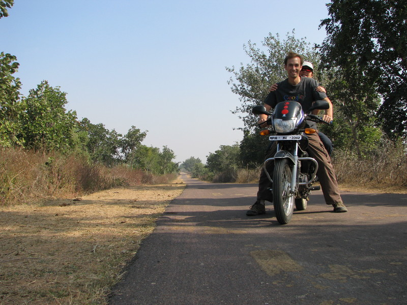 A motorbike and an open road.  What could be better?