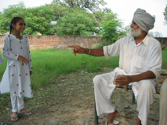 Mr. Singh and his granddaughter
