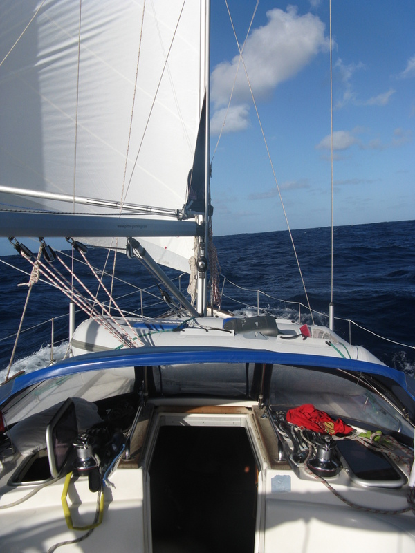Looking west, water, water, water! About 630 nm to St. Lucia, Caribbean