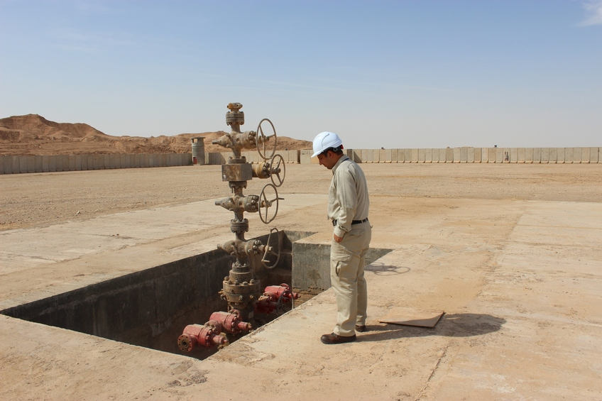 Engineer Hasan at the oil well drilled in Badra in 1978