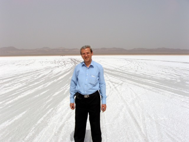 Sirous Nekooei on the salt lake