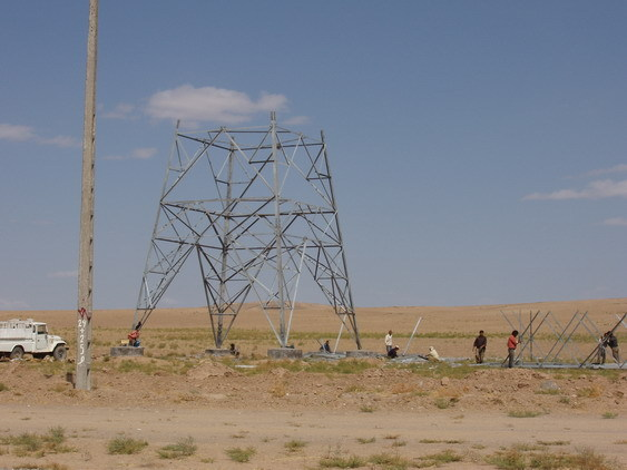 Construction of electricity pylons