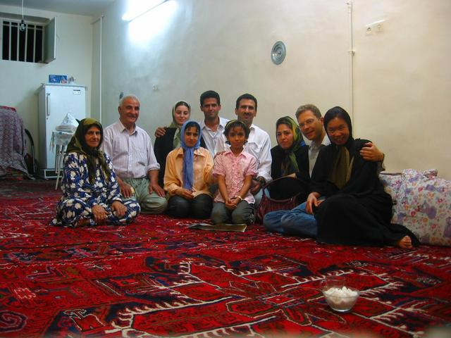 The hospitable family in Tabrīz