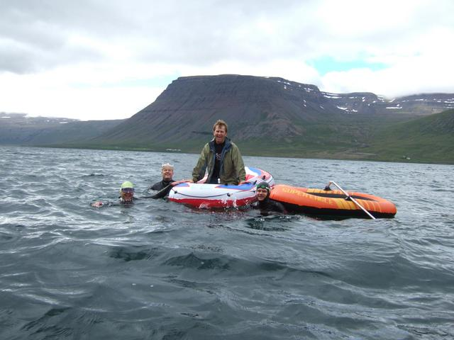 MS Atlantic 130 ( Svarthamrar (Black cliffs) farm behind )